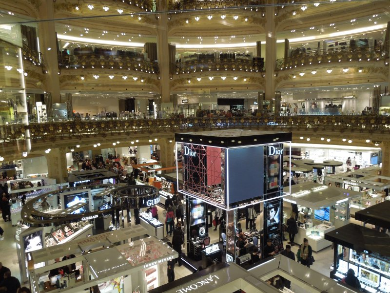 Looking down from the second floor of Galeries Lafayette