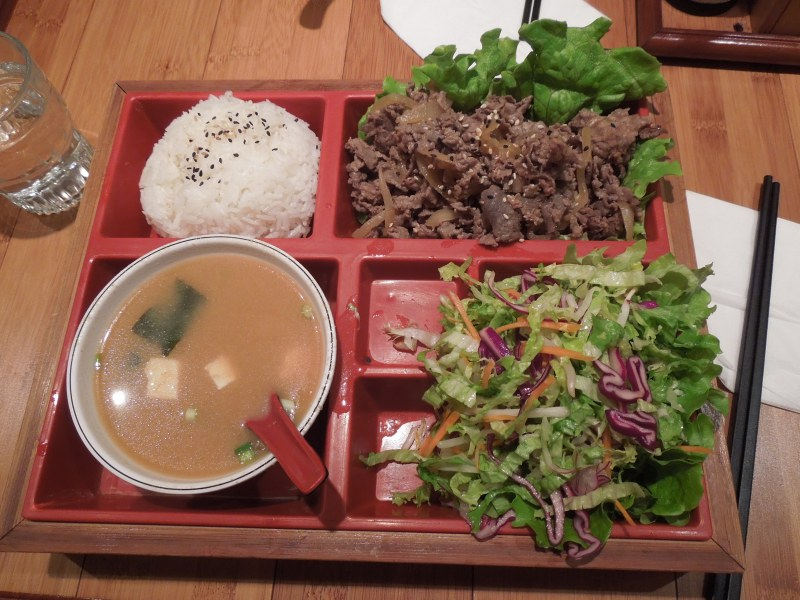 Bulgogi set with salad and miso soup!