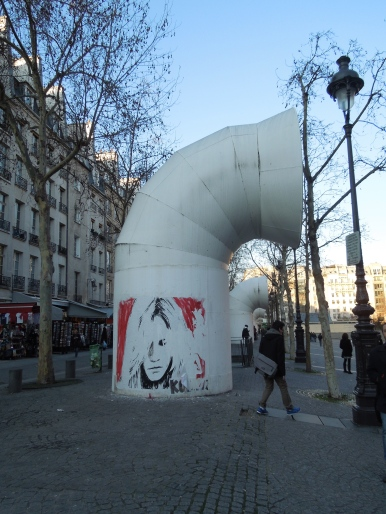In front of le Centre Pompidou