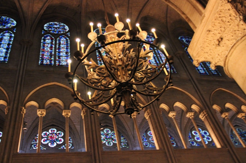 Chandeliers and stained glass