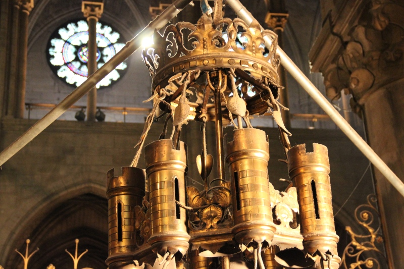 A portion of the huge chandelier that used to hang in Notre Dame