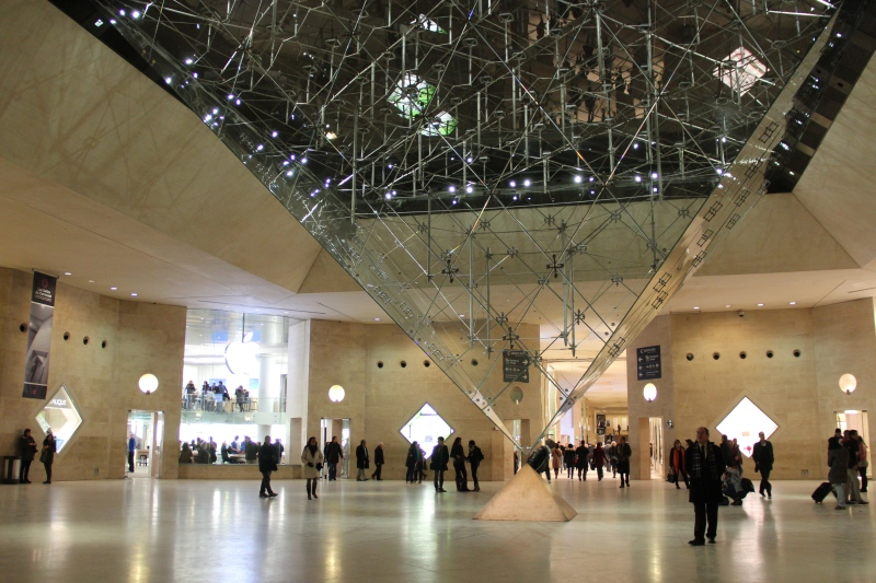 Inverted glass pyramid in the Carrousel du Louvre.