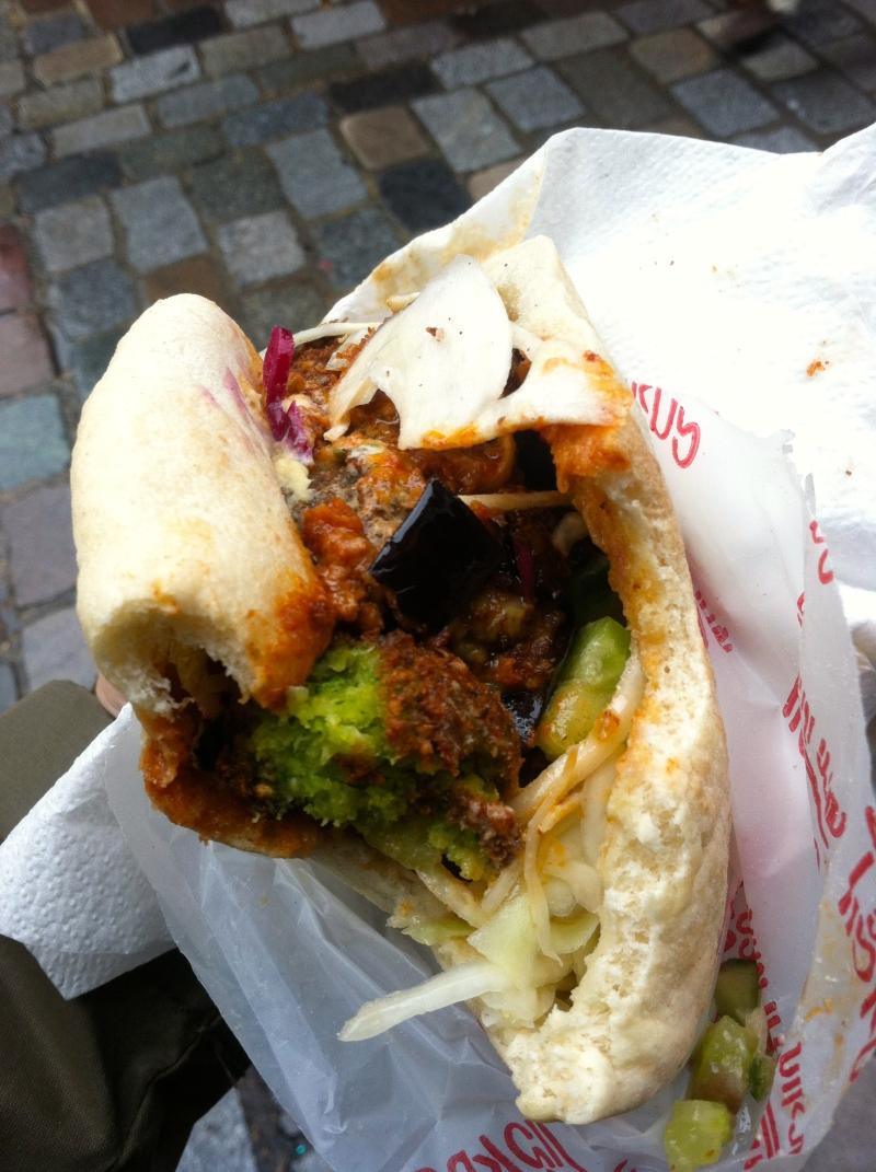 Falafel sandwich from mi-va-mi!